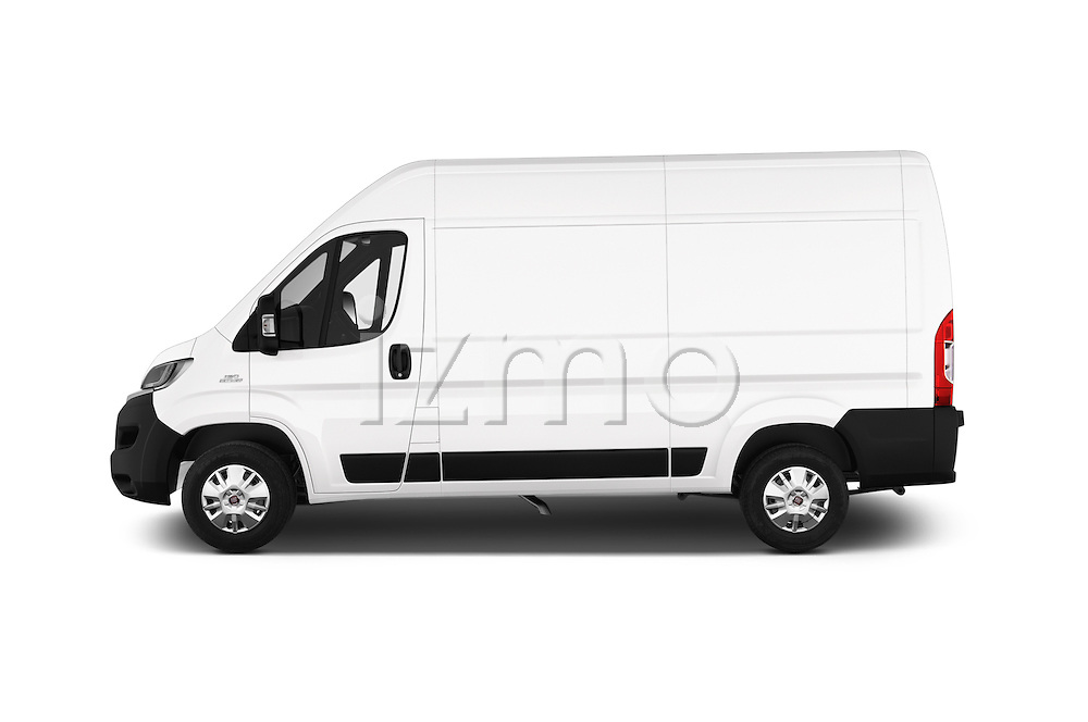 Car Driver side profile view of a 2016 Fiat Ducato MultiJet-MH2 4 Door Cargo Van Side View