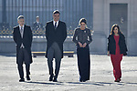 Fernando Grande-Marlaska, Pedro Sanchez, Queen Letizia of Spain and Margarita Robles attends to Pascua Militar at Royal Palace in Madrid, Spain. January 06, 2019. (ALTERPHOTOS/Pool)
