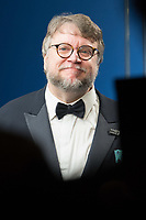 Guillermo del Toro, Oscar&reg; winner for achievement in directing and best picture for work on &ldquo;The Shape of Water&rdquo;, poses backstage with the during the live ABC Telecast of The 90th Oscars&reg; at the Dolby&reg; Theatre in Hollywood, CA on Sunday, March 4, 2018.<br /> *Editorial Use Only*<br /> CAP/PLF/AMPAS<br /> Supplied by Capital Pictures