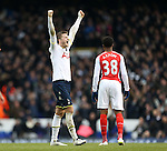 Tottenham's Eric Dier celebrates at the final whistle<br /> <br /> Barclays Premier League- Tottenham Hotspurs vs Arsenal  - White Hart Lane - England - 7th February 2015 - Picture David Klein/Sportimage