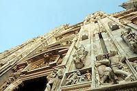 Dettaglio della facciata del Duomo di Milano.<br /> Detail of the facade of the Duomo of Milan.<br /> UPDATE IMAGES PRESS/Riccardo De Luca