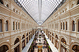 RUSSIA, Moscow. Interrior of GUM Department Store on Red Square.