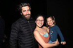 Jake Gyllenhaal and Ruthie Ann Miles with her daughter during the Actors' Equity opening night Gypsy Robe Ceremony honoring  MaryAnn Hu for ''Sunday in the Park with George' at the Hudson Theatre on February 23, 2017 in New York City.