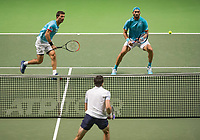 Rotterdam, The Netherlands, 17 Februari 2019, ABNAMRO World Tennis Tournament, Ahoy, Jean-Julien Rojer (NED) / Horia Tecau (ROU) (R),<br /> Photo: www.tennisimages.com/Henk Koster