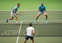 Rotterdam, The Netherlands, 17 Februari 2019, ABNAMRO World Tennis Tournament, Ahoy, Jean-Julien Rojer (NED) / Horia Tecau (ROU) (R),<br /> Photo: www.tennisimages.com/Henk Koster