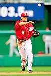 15 August 2010: Washington Nationals shortstop Ian Desmond in action against the Arizona Diamondbacks at Nationals Park in Washington, DC. The Nationals defeated the Diamondbacks 5-3 to take the rubber match of their 3-game series. Mandatory Credit: Ed Wolfstein Photo