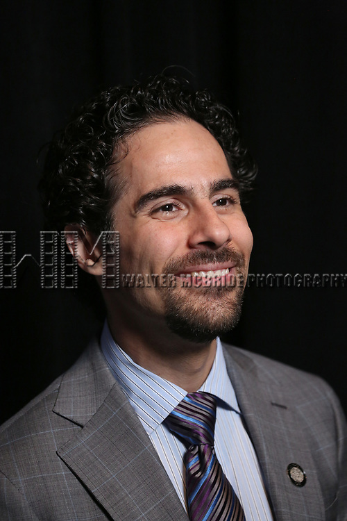 Alex Lacamoire attends the 2017 Tony Awards Meet The Nominees Press Junket at the Sofitel Hotel on May 3, 2017 in New York City.