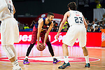Real Madrid's player Sergio Llull and Barcelona's player Juan Carlos Navarro during Liga Endesa 2015/2016 Finals 4th leg match at Barclaycard Center in Madrid. June 20, 2016. (ALTERPHOTOS/BorjaB.Hojas)