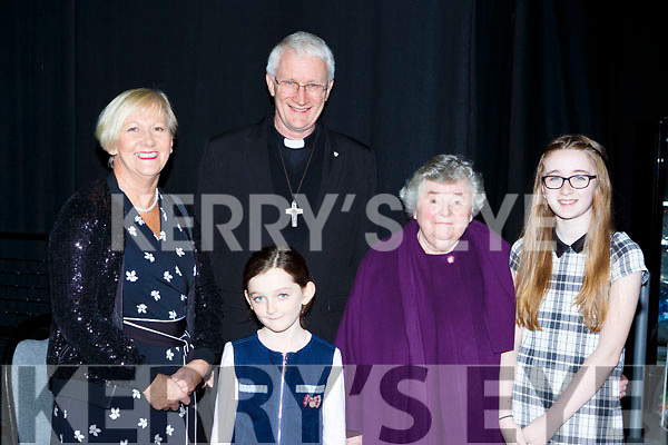 Enjoying the Cork Youth Choir concert in aid of the Children on Chernobyl in Killarney Racecourse on Sunday night l-r: Sheila Goulding, Abbie O'Sullivan Bishop Ray Browne, Betty Crosbie and Jennifer Rea