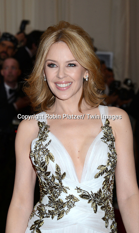 Kylie Minogue attends the Costume Institute Benefit on May 5, 2014 at the Metropolitan Museum of Art in New York City, NY, USA. The gala celebrated the opening of Charles James: Beyond Fashion and the new Anna Wintour Costume Center.