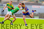 Bernard Walsh and Brendan O'Sullivan South Kerry in Action against Adrian Spillane Kenmare in the County Senior Football Semi Final at Fitzgerald Stadium Killarney on Sunday.