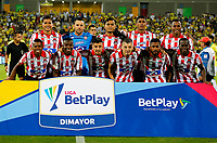BUCARAMANGA-COLOMBIA, 07-03-2020: Jugadores de Atletico Junior, posan para una foto antes de partido entre Atletico Bucaramanga y Atletico Junior, de la fecha 8 por la Liga BetPlay DIMAYOR I 2020, jugado en el estadio Alfonso Lopez de la ciudad de Bucaramanga. / Players of Atletico Junior pose for a photo prior a match between Atletico Bucaramanga and Atletico Junior, of the 8th date for the BetPlay DIMAYOR I Legauje 2020 at the Alfonso Lopez stadium in Bucaramanga city. / Photo: VizzorImage / Jaime Moreno / Cont.