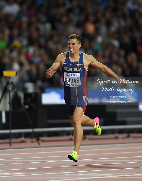 Mihail DUDAS (SRB) in the mens decathlon 400m. IAAF world athletics championships. London Olympic stadium. Queen Elizabeth Olympic park. Stratford. London. UK. 11/08/2017. ~ MANDATORY CREDIT Garry Bowden/SIPPA - NO UNAUTHORISED USE - +44 7837 394578