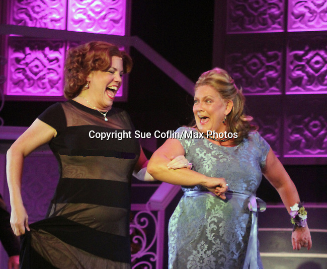 "Guiding Light's Kim Zimmer stars with All My Children's Jane Brockman in ""It Shoulda Been You"" - a new musical comedy - at the Gretna Theatre on July 30, 2016. Both Jane and Kim starred separate companies of the national tour of Wicked. (Photo by Sue Coflin/Max Photos)"