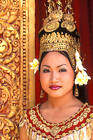 Traditional Dancer and Colorful Costumes. Khmer Arts Dance Siem Reap, Cambodia