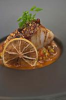 Europe/France/Bretagne/56/Morbihan/Lorient: Lieu jaune façon tajine,  recette de Philippe Le Lay -  Restaurant: Henri & Joseph