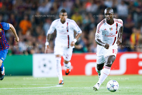 Clarence Seedorf (Milan), SEPTEMBER 13, 2011 - Football / Soccer : UEFA Champions League Group H match between FC Barcelona 2-2 AC Milan at Camp Nou stadium in Barcelona, Spain. (Photo by D.Nakashima/AFLO)[2336]