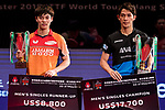 Prize Ceremony of Seamaster 2018 ITTF World Tour Hang Seng Hong Kong Open
