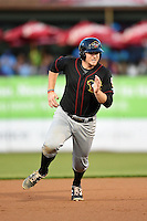 Quad Cities River Bandits first baseman A.J. Reed (18) running the bases during a game against the Kane County Cougars on August 14, 2014 at Third Bank Ballpark in Geneva, Illinois.  Kane County defeated Quad Cities 4-1.  (Mike Janes/Four Seam Images)