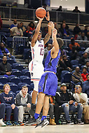 Washington, DC - December 22, 2018: Howard Bison guard Charles Williams (13) makes a three pointer during the DC Hoops Fest between Hampton and Howard at  Entertainment and Sports Arena in Washington, DC.   (Photo by Elliott Brown/Media Images International)