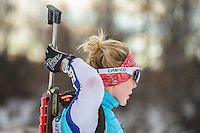 Miss Alaska 2015, Zoey Grenier trains for biathlon at Kincaid. Photo by James R. Evans