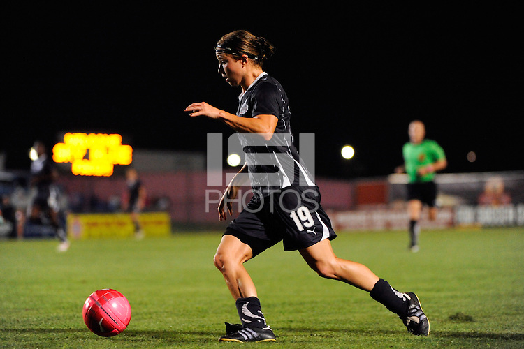 Rebecca Moros (19) of the Washington Freedom. Sky Blue FC and the Washington Freedom played to a 1-1 tie during a Women's Professional Soccer (WPS) match at Yurcak Field in Piscataway, NJ, on August 11, 2010.