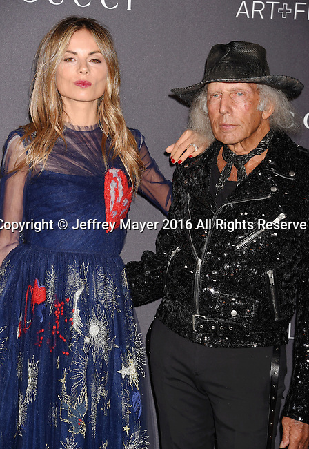 LOS ANGELES, CA - OCTOBER 29: Stylist Erica Pelosini (L) and James Goldstein attend the 2016 LACMA Art + Film Gala honoring Robert Irwin and Kathryn Bigelow presented by Gucci at LACMA on October 29, 2016 in Los Angeles, California.