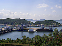 Staudamm bei Nampo, Nordkorea, Asien<br /> dam near Nampo, North Korea, Asia