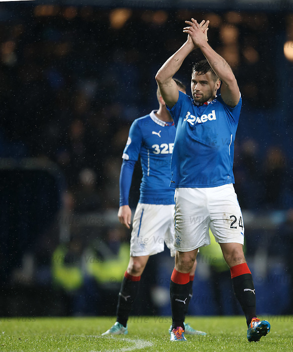 Darren McGregor applauding the fans at full-time