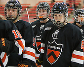 Cassidy Tucker (Princeton - 5), Audrey Potts (Princeton - 8) - The Harvard University Crimson defeated the visiting Princeton University Tigers 4-0 on Saturday, October 26, 2013, at Bright-Landry Hockey Center in Cambridge, Massachusetts.