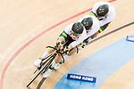 The team of Australia with Sam Welsford, Cameron Meyer, Alexander Porter and Nicholas Yallouris competes in the Men's Team Pursuit - Finals as part of the 2017 UCI Track Cycling World Championships on 13 April 2017, in Hong Kong Velodrome, Hong Kong, China. Photo by Chris Wong / Power Sport Images
