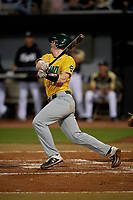 Siena Saints Bryce Mordecki (31) bats during a game against the UCF Knights on February 14, 2020 at John Euliano Park in Orlando, Florida.  UCF defeated Siena 2-1.  (Mike Janes/Four Seam Images)