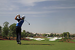 Padraig Harrington tees off on the par3 4th hole during  Day 3 at the Dubai World Championship Golf in Jumeirah, Earth Course, Golf Estates, Dubai  UAE, 21st November 2009 (Photo by Eoin Clarke/GOLFFILE)