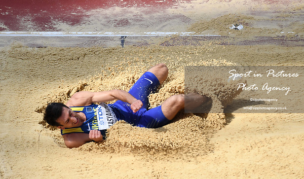 Oleksiy KASYANOV (UKR) in the mens decathlon long jump. IAAF world athletics championships. London Olympic stadium. Queen Elizabeth Olympic park. Stratford. London. UK. 11/08/2017. ~ MANDATORY CREDIT Garry Bowden/SIPPA - NO UNAUTHORISED USE - +44 7837 394578