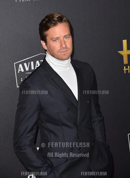 LOS ANGELES, CA. November 04, 2018: Armie Hammer at the 22nd Annual Hollywood Film Awards at the Beverly Hilton Hotel.<br /> Picture: Paul Smith/Featureflash