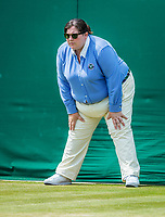 London, England, 10th July 2017. Tennis, Wimbledon. Lineswoman. Photo Henk Koster, Tennis Images.