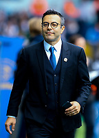 Leeds United owner Andrea Radrizzani in the dug out area before the game<br /> <br /> Photographer Alex Dodd/CameraSport<br /> <br /> The EFL Sky Bet Championship - Leeds United v Birmingham City - Saturday 19th October 2019 - Elland Road - Leeds<br /> <br /> World Copyright © 2019 CameraSport. All rights reserved. 43 Linden Ave. Countesthorpe. Leicester. England. LE8 5PG - Tel: +44 (0) 116 277 4147 - admin@camerasport.com - www.camerasport.com
