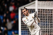 3rd February 2019, Santiago Bernabeu, Madrid, Spain; La Liga football, Real Madrid versus Alaves; Gareth Bale (Real Madrid) applauds the fans
