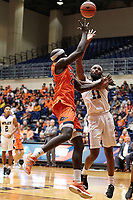 SAN ANTONIO, TX - NOVEMBER 22, 2019: The Wiley College Wildcats fall to the University of Texas at San Antonio Roadrunners 90-68 at the Historic UTSA Convocation Center. (Photo by Jeff Huehn)