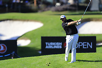 Shane Lowry (IRL) plays his 2nd shot from the rough on the 17th hole during Friday's Round 2 of the 2018 Turkish Airlines Open hosted by Regnum Carya Golf &amp; Spa Resort, Antalya, Turkey. 2nd November 2018.<br /> Picture: Eoin Clarke | Golffile<br /> <br /> <br /> All photos usage must carry mandatory copyright credit (&copy; Golffile | Eoin Clarke)