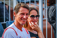 Paris, France, 27 May, 2018, Tennis, French Open, Roland Garros, Dutch coach Paul Haarhuis with his whife Anja<br /> Photo: Henk Koster/tennisimages.com