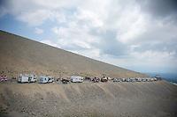 Campervan Avenue up Mont Ventoux<br /> <br /> Tour de France 2013<br /> stage 15: Givors to Mont Ventoux, 242,5km