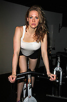 Maitland Ward<br /> Maitland Ward works out in preparation for a starring role in an upcoming sci-fi action movie slated to begin shooting in November, Cyclehouse and Lift, West Hollywood, CA 09-17-14<br /> Janice Ogata/DailyCeleb.com 818-249-4998