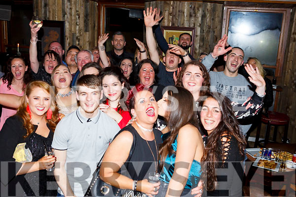 The staff of the Ballyseedey Garden Centre enjoying the party in No 4 The Square on Saturday night last.