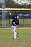 Tommy Dilandri (16) of Las Vegas, Nevada during the Baseball Factory All-America Pre-Season Rookie Tournament, powered by Under Armour, on January 13, 2018 at Lake Myrtle Sports Complex in Auburndale, Florida.  (Michael Johnson/Four Seam Images)
