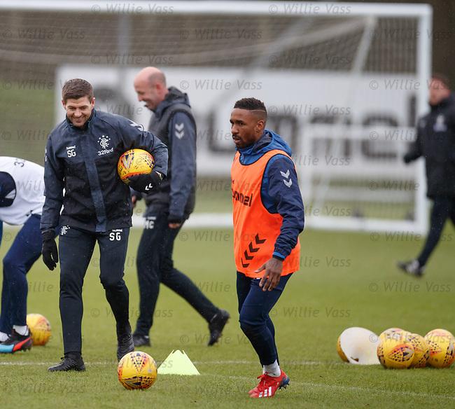 05.02.2019: Rangers training: Steven Gerrard and Jermain Defoe