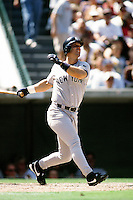 Tino Martinez of the New York Yankees during a game against the Anaheim Angels circa 1999 at Angel Stadium in Anaheim, California. (Larry Goren/Four Seam Images)