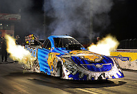 Jan. 17, 2013; Jupiter, FL, USA: NHRA funny car driver Chad Head during testing at the PRO Winter Warmup at Palm Beach International Raceway.  Mandatory Credit: Mark J. Rebilas-