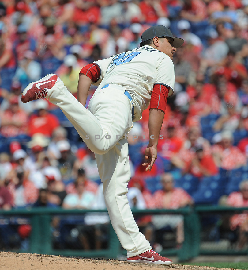 Philadelphia Phillies David Hernandez (30) during a game against the Arizona Diamondbacks on June 19, 2016 at Citizens Bank Park in Philadelphia, PA. The Diamondbacks beat the Phillies 3-1.