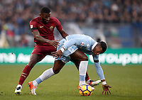 Calcio, Serie A: Lazio vs Roma. Roma, stadio Olimpico, 4 dicembre 2016.<br /> Lazio's Keita Balde Diao, right, is challenged by Roma's Antonio Ruediger during the Italian Serie A football match between Lazio and Rome at Rome's Olympic stadium, 4 December 2016. Roma won 2-0.<br /> UPDATE IMAGES PRESS/Isabella Bonotto